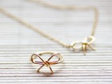 Simple And Elegant DIY Wire Bow Ring4