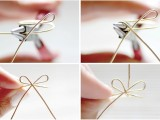 Simple And Elegant DIY Wire Bow Ring6