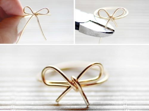 Simple And Elegant DIY Wire Bow Ring