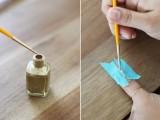 Simple DIY Gold Striped Nail Art3