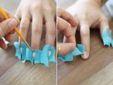 Simple DIY Gold Striped Nail Art4