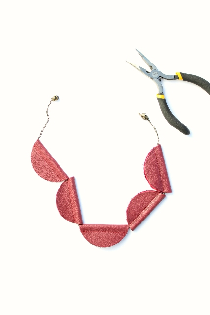 Picture Of Simple DIY Leather Bead Necklaces 7