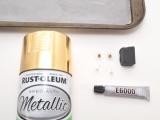 Simple DIY Metallic Knot Stud Earrings2