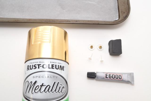 Picture Of Simple DIY Metallic Knot Stud Earrings 2