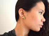 Simple DIY Metallic Knot Stud Earrings7