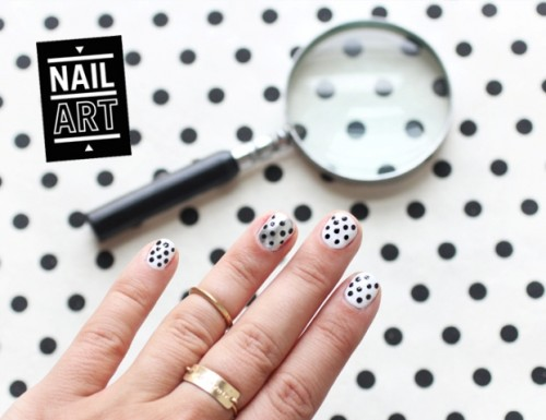 Simple DIY Polka Dots Nail Art