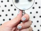 Simple DIY Polka Dots Nail Art2