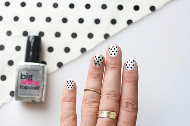 Picture Of Simple DIY Polka Dots Nail Art 6