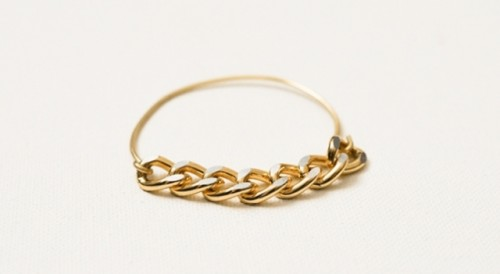 Simple DIY Wire Chain Bracelet