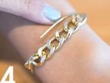 Simple DIY Wire Chain Bracelet6