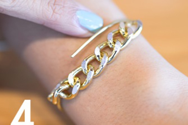 Picture Of Simple DIY Wire Chain Bracelet 6