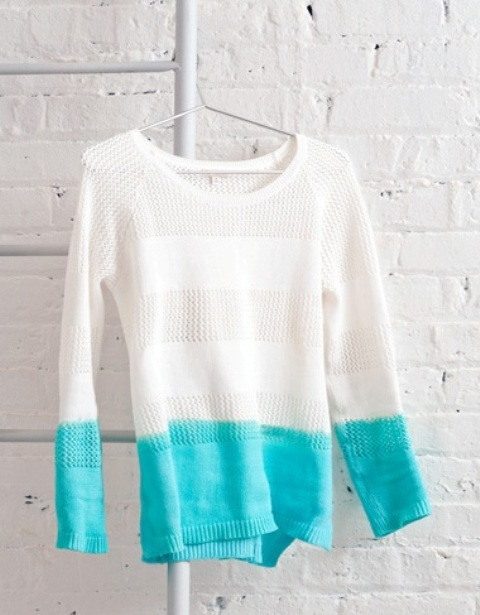 Spring DIY Dip-Dyed Sweater