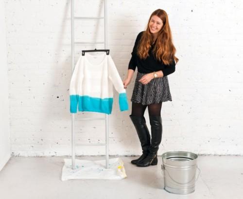 Spring DIY Dip Dyed Sweater