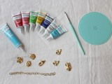 Spring DIY Enamel Charm Bracelet3