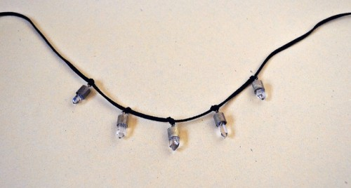 Stunning DIY Faux Bullet Shell Crystal Necklace