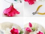 Stunning DIY Flower Hat For Summer Days5