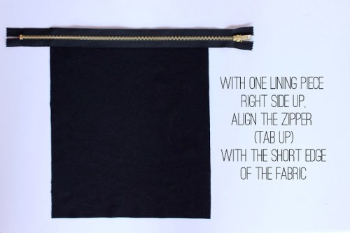 Stylish DIY Lined Sequin Clutch With Zipper