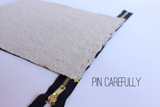 Picture Of Stylish DIY Lined Sequin Clutch With Zipper 6