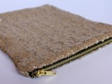 Stylish DIY Lined Sequin Clutch With Zipper9