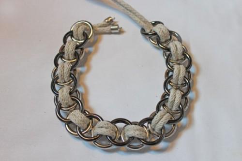 Stylish DIY Metal Ring Necklace