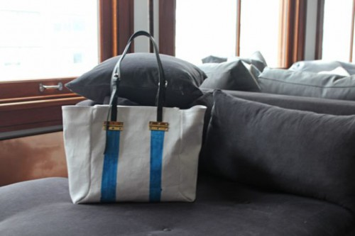 Stylish DIY Striped Tote Bag