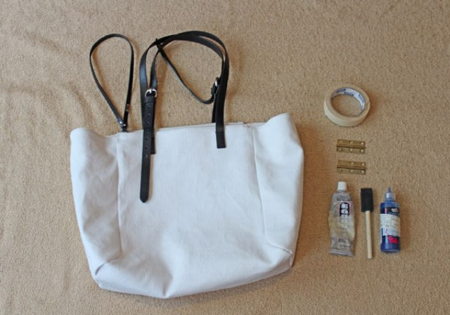 Picture Of Stylish DIY Striped Tote Bag 2