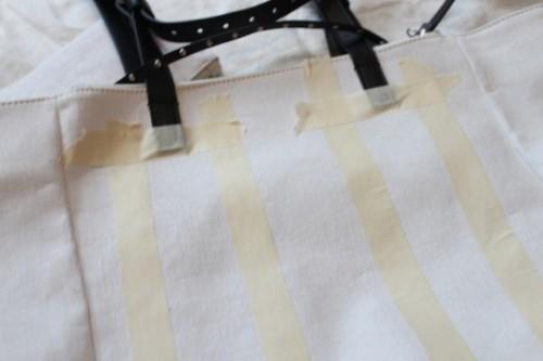 Stylish DIY Striped Tote Bag