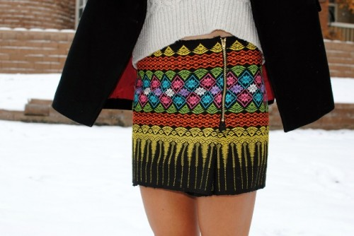Colorful DIY Zip Mini Skirt To Make