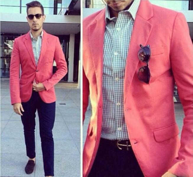 Men Pink Jacket - JacketIn