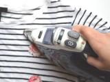 Summer DIY Floral Appliqued Striped Shirt10