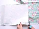 Summer DIY Floral Appliqued Striped Shirt6