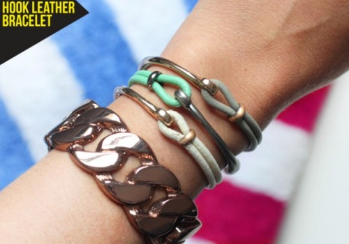 Summer DIY Leather Hook Bracelets