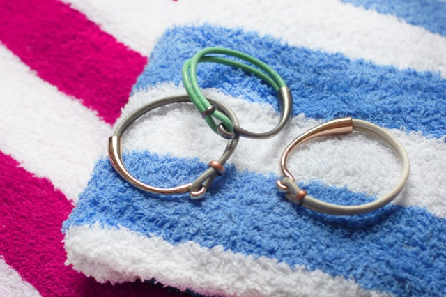 Picture Of Summer DIY Leather Hook Bracelets 2