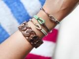 Summer DIY Leather Hook Bracelets3