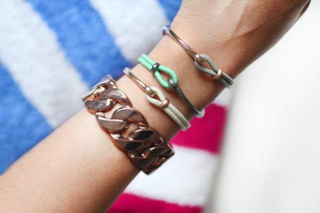 Picture Of Summer DIY Leather Hook Bracelets 3