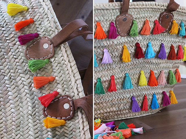 Picture Of Summer DIY Tassel Tote For Picnics 11