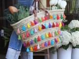 Summer DIY Tassel Tote For Picnics12