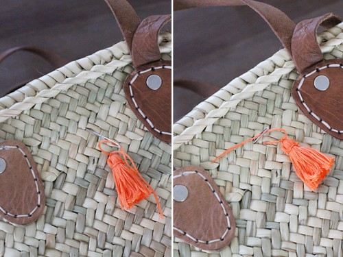 Summer DIY Tassel Tote For Picnics