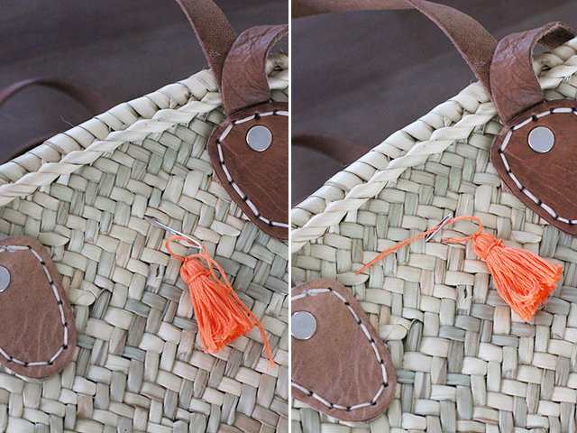 Picture Of Summer DIY Tassel Tote For Picnics 9