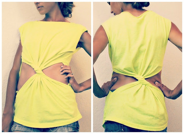 Picture Of Summer DIY Twisted T Shirt 2