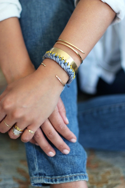 Sunny DIY Braided Cuff For Your Spring Or Summer Look