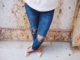 Super Cool DIY Destroyed Denim Jeans5