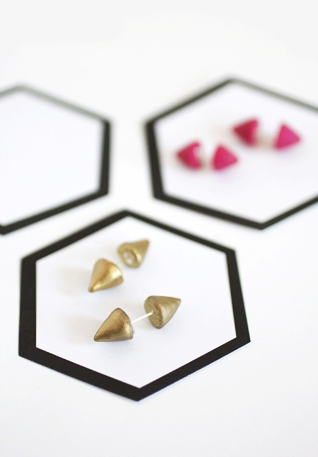 Super Cool DIY Double-Sided Spiked Earrings