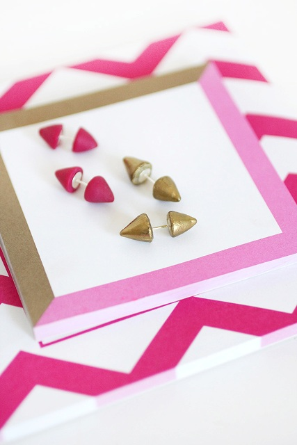 Super Cool DIY Double Sided Spiked Earrings
