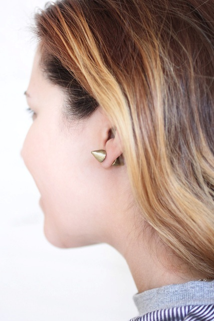 Picture Of Super Cool DIY Double Sided Spiked Earrings 3