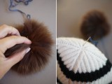 Super Cool DIY Pom Pom Beanie4