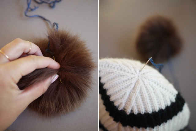 Picture Of Super Cool DIY Pom Pom Beanie 4
