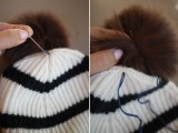 Super Cool DIY Pom Pom Beanie5