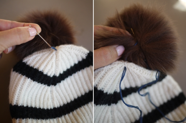 Picture Of Super Cool DIY Pom Pom Beanie 5