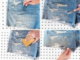 Super Cool DIY Shredded Distressed Denim4